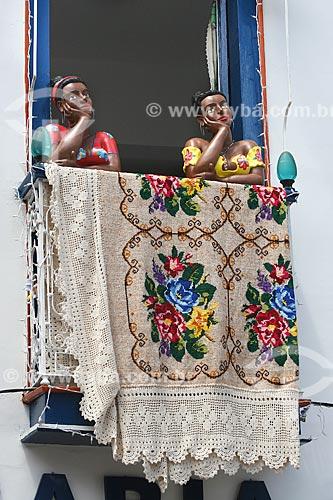 Assunto: Namoradeiras - bonecas que ficam expostas pelas janelas dos casarios da cidade / Local: Diamantina - Minas Gerais (MG) - Brasil / Data: 12/2007