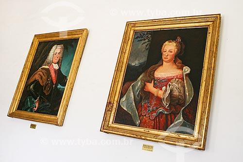 Assunto: Quadro de Dom João V de Portugal e Rainha Maria Ana Victoria da Áustria - Antiga Casa da Câmara e Cadeia / Local: Mariana - Minas Gerais (MG) - Brasil / Data: 12/2007