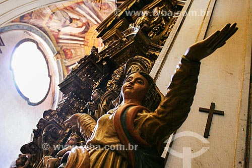 Assunto: Imagem de anjo na Catedral Basílica Nossa Senhora da Assunção - Também conhecida como Igreja da Sé / Local: Mariana- Minas Gerais (MG) - Brasil / Data: 12/2007