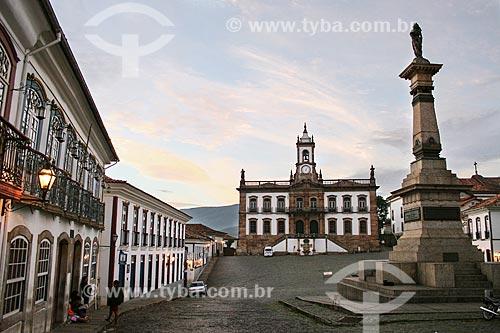 Assunto: Monumento a Tiradentes e Museu da Inconfidência - antiga Casa de Câmara e Cadeia de Vila Rica / Local: Ouro Preto - Minas Gerais (MG) - Brasil / Data: 12/2007