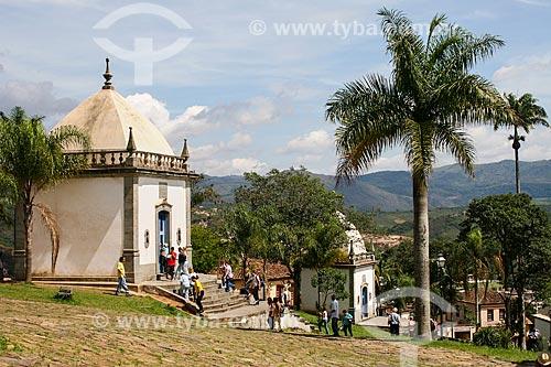 Assunto: Vista dos Passos da Paixão - Santuário de Bom Jesus de Matosinhos / Local: Congonhas - Minas Gerais - Brasil  / Data: 12/2007