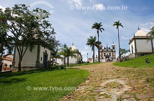 Assunto: Vista do Santuário de Bom Jesus de Matosinhos à partir dos Passos da Paixão / Local: Congonhas - Minas Gerais - Brasil  / Data: 12/2007