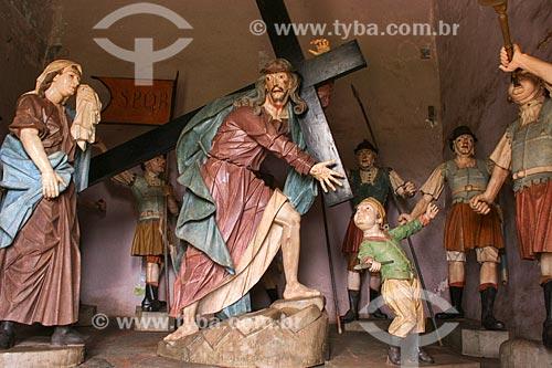 Assunto: Esculturas do Passos da Paixão - Santuário de Bom Jesus de Matosinhos / Local: Congonhas - Minas Gerais - Brasil  / Data: 12/2007