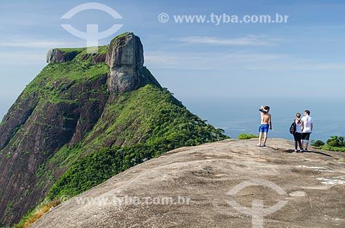 Assunto: Vista da Pedra da Gávea a partir da Pedra Bonita / Local: Rio de Janeiro (RJ) - Brasil / Data: 01/2014