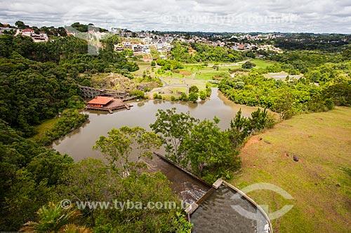 Assunto: Vista do lago do Parque Tanguá a partir do mirante / Local: Curitiba - Paraná (PR) - Brasil / Data: 12/2013
