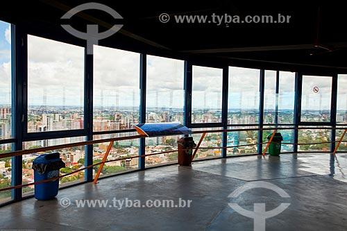 Assunto: Vista do mirante da Torre Panorâmica de Curitiba - também conhecida como Torre da Telepar ou Torre das Mercês / Local: Curitiba - Paraná (PR) - Brasil / Data: 12/2013
