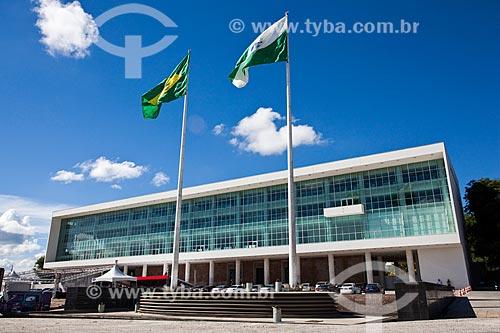 Assunto: Fachada do Palácio Iguaçu (1953) - sede do Governo do Estado / Local: Centro Cívico - Curitiba - Paraná (PR) - Brasil / Data: 12/2013