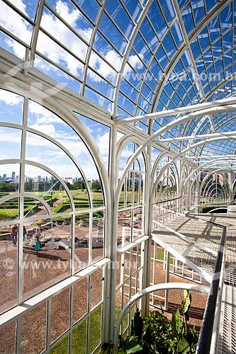 Assunto: Interior da estufa do Jardim Botânico de Curitiba (Jardim Botânico Francisca Maria Garfunkel Rischbieter) / Local: Jardim Botânico - Curitiba - Paraná (PR) - Brasil / Data: 12/2013