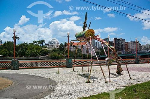 Assunto: Escultura Carne da minha perna (2005) às margens do Rio Capibaribe / Local: Recife - Pernambuco (PE) - Brasil / Data: 11/2013