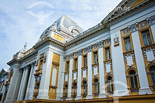 Assunto: Fachada do Palácio da Justiça (1930) - sede do Tribunal de Justiça de Pernambuco / Local: Santo Antônio - Recife - Pernambuco (PE) - Brasil / Data: 11/2013