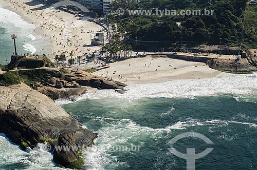 Assunto: Vista da Praia do Diabo e da Pedra do Arpoador / Local: Ipanema - Rio de Janeiro (RJ) - Brasil / Data: 06/2009