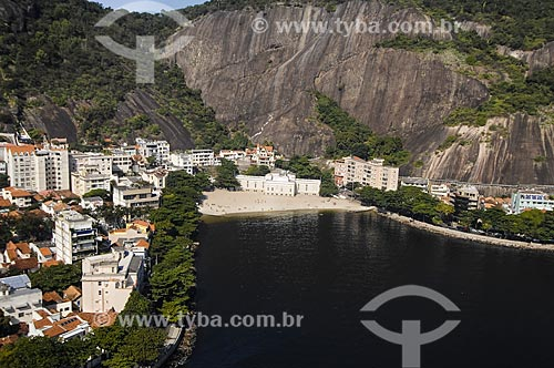 Assunto: Vista aérea da Praia da Urca / Local: Urca - Rio de Janeiro (RJ) - Brasil / Data: 06/2009