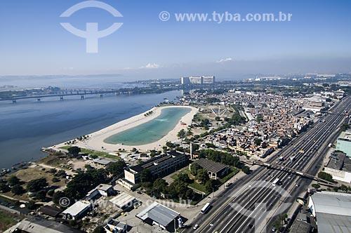Assunto: Vista aérea do Piscinão de Ramos com Avenida Brasil ao lado / Local: Ramos - Rio de Janeiro (RJ) - Brasil / Data: 06/2009