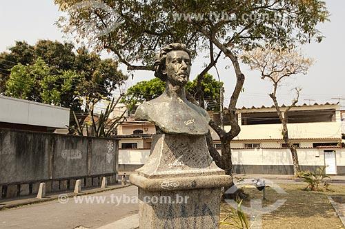 Assunto: Busto de Gonçalves Dias na Praça Manuel Madruga / Local: Tauá - Rio de Janeiro (RJ) - Brasil / Data: 09/2010