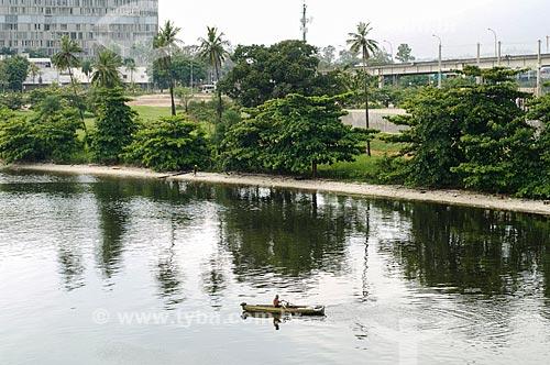 Assunto: Praia do Fundao com Hospital Universitário da Universidade Federal do Rio de Janeiro (UFRJ) ao fundo / Local: Cidade Universitária - Rio de Janeiro (RJ) - Brasil / Data: 12/2010