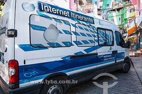 Assunto: Internet Itinerante na Favela Santa Marta - Projeto da Secretaria de Ciência e Tecnologia da Prefeitura do Rio de Janeiro / Local: Botafogo - Rio de Janeiro (RJ) - Brasil / Data: 04/2011