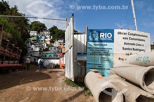 Assunto: Obras da Prefeitura nas comunidades Azevedo Lima e Santos Rodrigues no Morro do Querosene / Local: Rio de Janeiro (RJ) - Brasil / Data: 06/2011