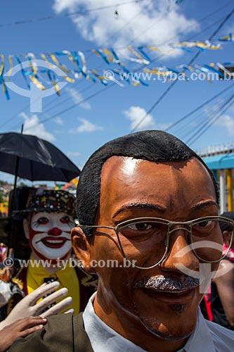 Assunto: Bonecos de Olinda durante o carnaval de rua / Local: Guadalupe - Olinda - Pernambuco (PE) - Brasil / Data: 03/2014