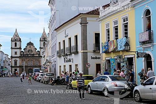 Assunto: Terreiro de Jesus - também conhecido como Praça 15 de Novembro - com Convento e Igreja de São Francisco (Séc. XVIII) ao fundo / Local: Salvador - Bahia (BA) - Brasil / Data: 02/2014
