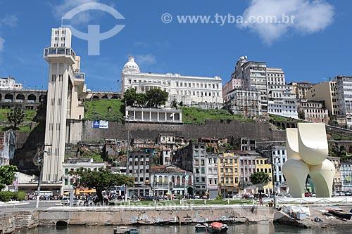 Assunto: Fonte da Rampa do Mercado e Elevador Lacerda / Local: Salvador - Bahia (BA) - Brasil / Data: 02/2014