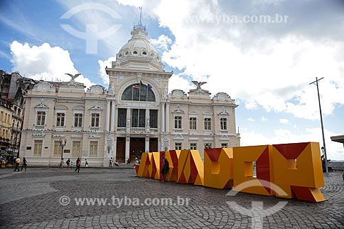 Assunto: Palácio Rio Branco (antiga sede do governo da Bahia) - Praça Tomé de Sousa / Local: Salvador - Bahia (BA) - Brasil / Data: 02/2014