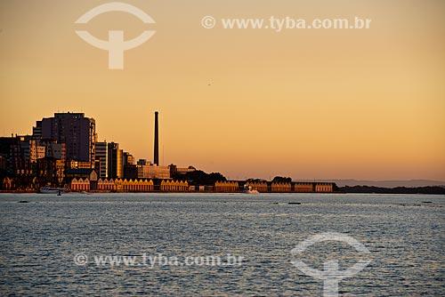Assunto: Pôr do sol no Porto de Porto Alegre / Local: Porto Alegre - Rio Grande do Sul (RS) - Brasil / Data: 04/2013