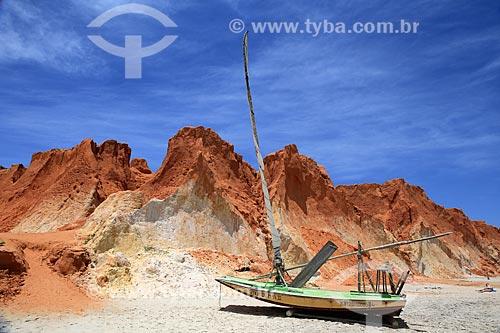 Assunto: Jangada na praia de Canoa Quebrada / Local: Aracati - Ceará (CE) - Brasil / Data: 02/2014