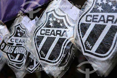 Assunto: Escudos do Ceará (time de futebol) - comércio tradicional / Local: Centro - Fortaleza - Ceará (CE) - Brasil / Data: 03/2014