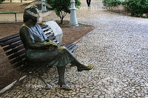 Assunto: Estátua de Rachel de Queiróz na Praça General Tibúrcio (Praça dos Leões) / Local: Fortaleza - Ceará (CE) - Brasil / Data: 03/2014