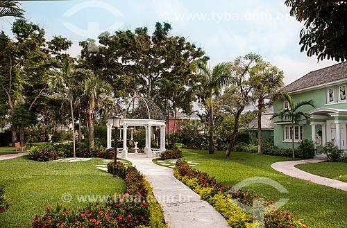 Assunto: Vista de jardim com coreto / Local: Bahamas - América Central / Data: 06/2013