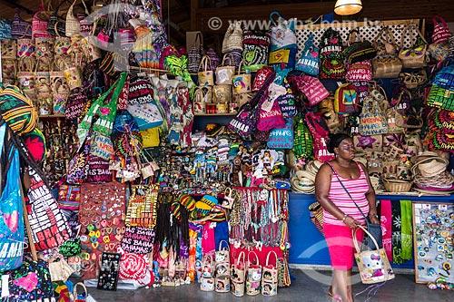 Assunto: Artesanato em palha à venda / Local: Bahamas - América Central / Data: 06/2013