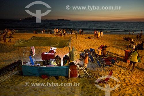 Assunto: Comércio ambulante na Praia do Arpoador / Local: Ipanema - Rio de Janeiro (RJ) - Brasil / Data: 02/2014