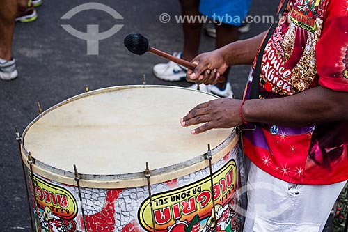 Assunto: Desfile do Grêmio Recreativo Escola de Samba Alegria da Zona Sul - Bateria - na orla de Copacabana / Local: Copacabana - Rio de Janeiro (RJ) - Brasil / Data: 01/2014