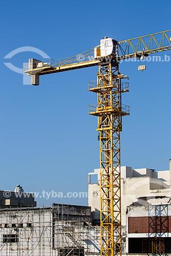 Assunto: Guindaste utilizado na construção de hotel em Copacabana / Local: Copacabana - Rio de Janeiro (RJ) - Brasil / Data: 01/2014