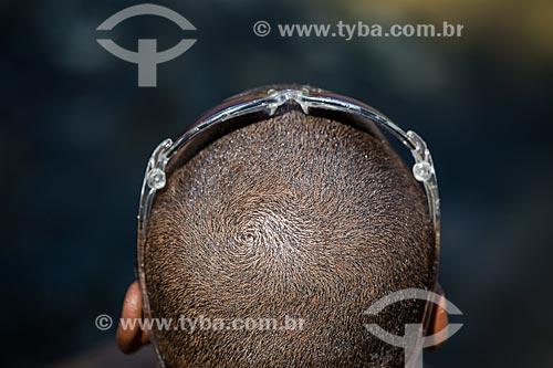 Assunto: Homem com óculos de sol na Praia da Urca / Local: Urca - Rio de Janeiro (RJ) - Brasil / Data: 01/2014
