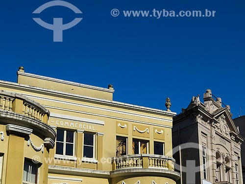 Assunto: Clube Comercial de Taquara (1926) - à esquerda - e Câmara da Indústria, Comércio, Serviços e Agropecuária do Vale do Paranhana (1918) à direita / Local: Taquara - Rio Grande do Sul (RS) - Brasil / Data: 12/2013