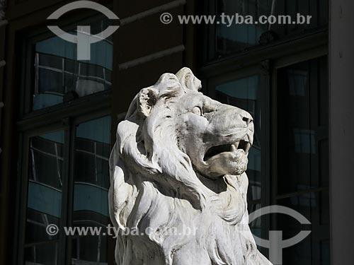 Assunto: Detalhe de escultura no Paço Municipal de Porto Alegre (1901) / Local: Porto Alegre - Rio Grande do Sul (RS) - Brasil / Data: 03/2014