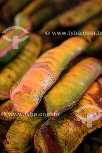 Assunto: Vagem do Ingá-cipó (Inga edulis) no Mercado Ver-o-peso / Local: Belém - Pará (PA) - Brasil / Data: 03/2014
