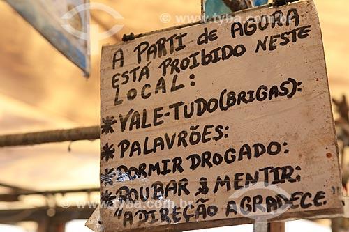 Assunto: Placa no Mercado Ver-o-peso / Local: Belém - Pará (PA) - Brasil / Data: 03/2014
