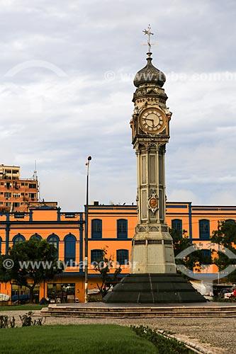 Assunto: Relógio trazido da Inglaterra em 1930 medindo doze metros de altura e figuras alusivas às quatro estações do ano na Praça Siqueira Campos, popularmente conhecida como Praça do Relógio / Local: Belém - Pará (PA) - Brasil / Data: 03/2014