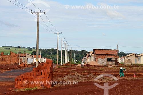 Assunto: Construção de casas populares / Local: Costa Rica - Mato Grosso do Sul (MS) - Brasil / Data: 02/2014