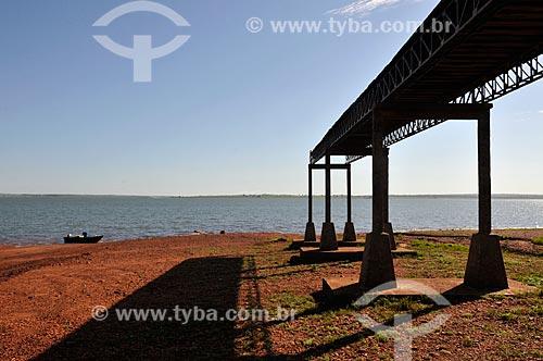 Assunto: Lago Azul ou Prainha do Lago Azul - Formado pelo Barragem de São Simão no Rio Paranaíba / Local: São Simão - Goiás (GO) - Brasil / Data: 02/2014