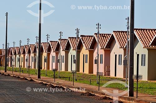 Assunto: Construção de Casas Populares - Residencial Cidade Jardim - Obra do Governo Federal / Local: São Simão - Goiás (GO) - Brasil / Data: 02/2014