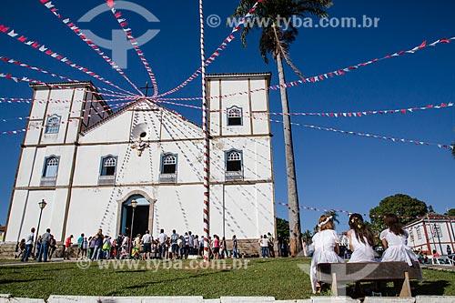 Assunto: Igreja de Nossa Senhora do Rosário dos Pretos (1761) - é considerada uma das maiores construções de taipa de pilão do Centro-Oeste / Local: Pirenópolis - Goiás (GO) - Brasil / Data: 05/2013