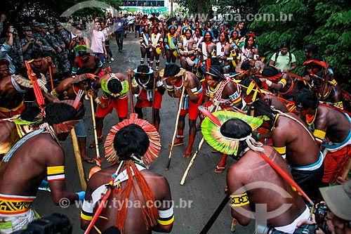 Assunto: Dança indígena durante a conferência RIO + 20 / Local: Rio de Janeiro (RJ) - Brasil / Data: 06/2012
