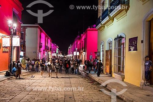 Assunto: Rua do centro histórico de Oaxaca / Local: Oaxaca - México - América do Norte / Data: 10/2013