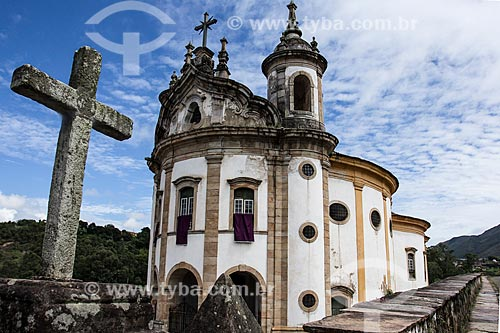Assunto: Igreja de Nossa Senhora do Rosário dos Pretos / Local: Ouro Preto - Minas Gerais (MG) - Brasil / Data: 03/2013