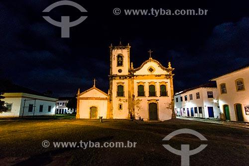 Assunto: Fachada da Igreja de Santa Rita de Cássia (1722) / Local: Paraty - Rio de Janeiro (RJ) - Brasil / Data: 09/2012
