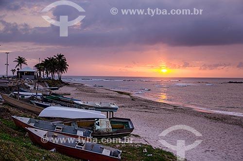 Assunto: Amanhecer na Praia da Pituba / Local: Salvador - Bahia (BA) - Brasil / Data: 12/2011