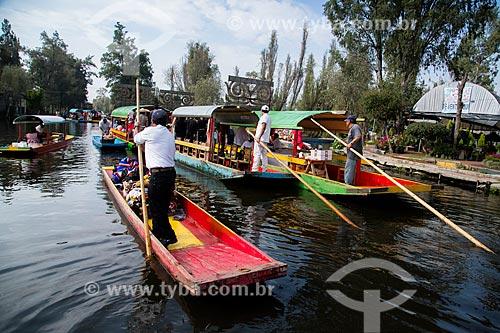 Assunto: Trajineras em lago no méxico / Local: Xochimilco - México - América do Norte / Data: 11/2013